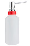 Liquid soap dispenser bottle made of plastic Stock Image