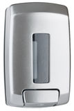 Liquid soap dispenser made of grey plastic Royalty Free Stock Image