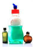 Liquid soap and oils Stock Images