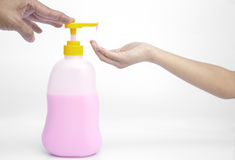 Liquid soap pump dispenser . Royalty Free Stock Photo