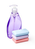 Liquid and  soaps Stock Photos