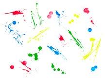 Liquid splash color strokes Royalty Free Stock Photography