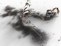 Liquid splash illustration Royalty Free Stock Photo
