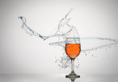 Liquid Splash Wine Glass Royalty Free Stock Photo