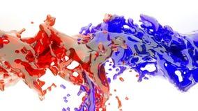 Liquid splashes in slow motion. Colored liquid splashes in slow motion Royalty Free Stock Photo