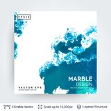Abstract ink background. Marble style. Royalty Free Stock Images
