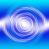 Liquid Swirl. Blue and white liquid swirl effect set on a gradient background royalty free illustration