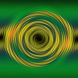 Liquid Swirl. Green and yellow liquid swirl effect set on a gradient background stock illustration
