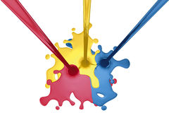 Liquid three colors Stock Images