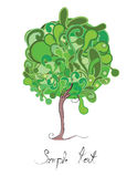 Liquid tree. Vector illustration of liguid green tree Stock Photos