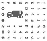 Liquid truck icon. Transport and Logistics set icons. Transportation set icons.  Royalty Free Stock Photo