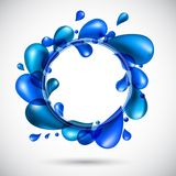 Liquid water spiral background. Royalty Free Stock Images