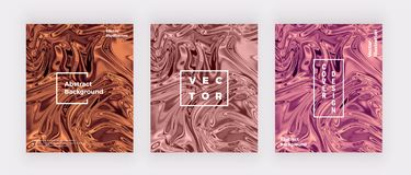 Liquid watercolor marble texture card. Swirls ink, ripples design background. Trendy fluid template for celebration, flyer, placar stock illustration