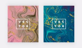 Liquid watercolor marble texture. Swirls ink, ripples design background. Trendy fluid template for celebration, flyer, placard, pa vector illustration