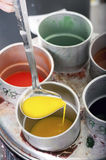 Liquid wax colors Royalty Free Stock Image