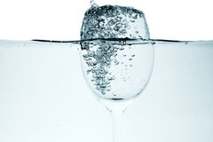Liquid in  wineglass Stock Photography