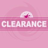 Liquidación Logo Pink Background Bird Fotografía de archivo libre de regalías