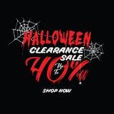 Liquidación vol. de Halloween 1 diseño del título del 40 por ciento para la prohibición libre illustration