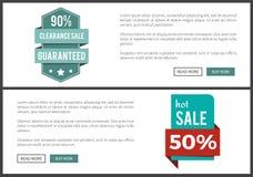 Liquidación 90 y venta caliente en el ejemplo del vector Foto de archivo libre de regalías