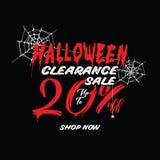 Liquidation de Halloween vol. 1 conception de titre de 20 pour cent pour l'interdiction illustration stock