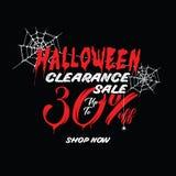 Liquidation de Halloween vol. 1 conception de titre de 30 pour cent pour l'interdiction illustration libre de droits