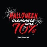 Liquidation de Halloween vol. 1 conception de titre de 70 pour cent pour l'interdiction Illustration de Vecteur