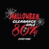 Liquidation de Halloween vol. 1 conception de titre de 80 pour cent pour l'interdiction illustration libre de droits