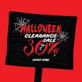 Liquidation de Halloween vol. conception de titre de 2 30 pour cent pour l'interdiction illustration de vecteur
