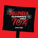 Liquidation de Halloween vol. conception de titre de 2 70 pour cent pour l'interdiction Illustration Libre de Droits