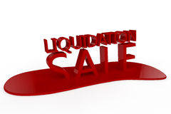Liquidation Sale. The words Liquidation Sale melting into a red puddle set against a white background Royalty Free Stock Images