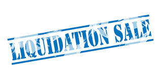 Liquidation sale blue stamp Royalty Free Stock Photography