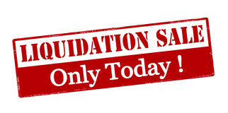 Liquidation sale only today Royalty Free Stock Photos