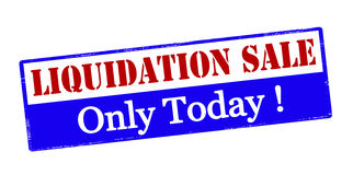 Liquidation sale only today Royalty Free Stock Images