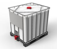 Liquide bulk container isolated on a white background Royalty Free Stock Image