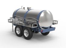 Liquide container trailer isolated on a white background Stock Photography