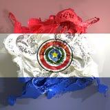 Liquide de drapeau du Paraguay illustration de vecteur