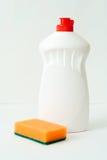 Liquide de vaisselle. Photo stock