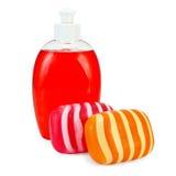 Liquide et solide de savon Image stock