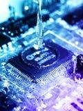 Liquide électronique Photo libre de droits