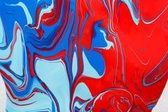 Liquide marbrant le fond de peinture acrylique Texture liquide d'abrégé sur peinture images libres de droits