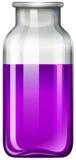 Liquide pourpre dans la bouteille en verre illustration libre de droits
