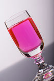 Liquide rose photo stock