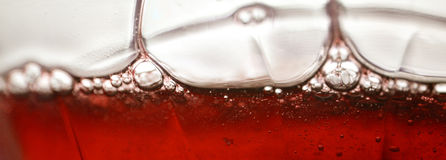 Liquide rouge photo libre de droits