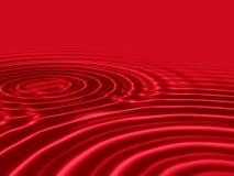 Liquide rouge de sang avec les ondes ondulées Photographie stock libre de droits