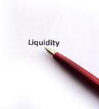 Liquidità con la penna immagini stock
