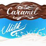 Liquidity chocolate, caramel or cocoa illustration Royalty Free Stock Image