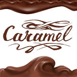 Liquidity chocolate, caramel or cocoa illustration Stock Photos