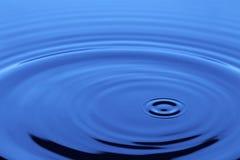 Liquido blu fotografia stock