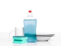 Liquido di lavatura dei piatti Fotografia Stock
