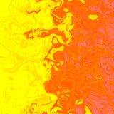 Liquido giallo arancione come il distor ruvido di progettazione del fondo di struttura Immagini Stock
